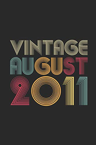Vintage August 2011: Graph Ruled Notebook / Journal (6