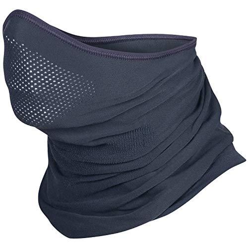 BRUBECK® X-Pro Halbe Sturmhaube | Klimaregulierend | Gesichtsmaske | Sturmmaske | Funktionskleidung | Atmungsaktiv | Anti-allergisch | Antibakteriell (Dunkelgrau, S - M)