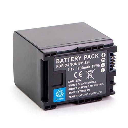 Amsahr Digital Replacement Battery for Canon BP-820, XA25- VIXIA HF G30 Refurbished, HF G30 Refurbished Canon Digital
