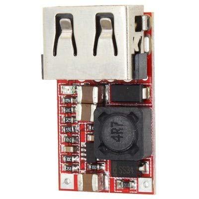 Preisvergleich Produktbild RanDal Ldtr - Wg0216 Dc-Dc Buck-Modul 6-24V Bis 5V 3A Usb Abwärts-Netzteil Ladegerät Wirkungsgrad 97,5 Prozent - Rot