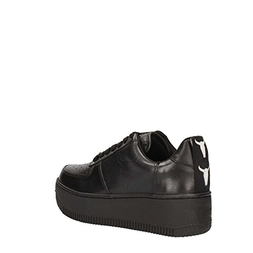 Windsor Smith Racerr Leather, Sneaker a Collo Alto Donna Nero