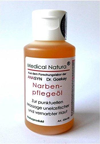 50ml Narbenpflegeöl, Narbenöl, zur Narbenpflege, Hautpflege bei Narben, Narbenmassageöl, mit viel D-Panthenol, Weizenkeimöl, Hagebuttenkernöl, Johanniskrautöl und vielen pflegenden ätherischen Ölen. Naturprodukt.