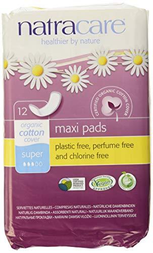 Natracare Natürliches Maxi-Pad Super, 12 Stück