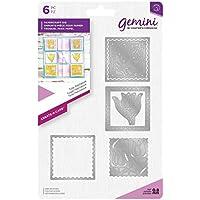 Gemini die-create-a-card-tulip Patchwork, silber, verschiedene