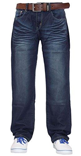 Männer Kreuzschraffur Designer Denim Jeans mit gratis Dark Wash