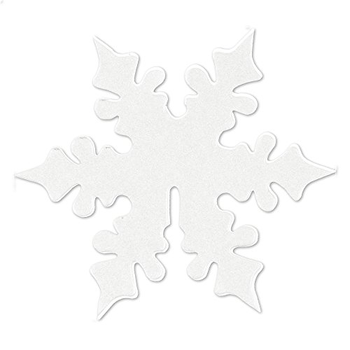 Neviti Scintillant Flocon de Neige Carte de Place pour Verre, Blanc, Lot de 10