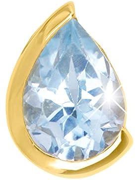 MyGold Edelstein Anhänger (Ohne Kette) Gelbgold 375 / 585 / 750 Gold (9 / 14 / 18 Karat) Blautopas Granat Amethyst...