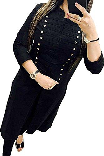 Shreeji Ethnic Cotton Slub Floor Length Long Designer Dress With Beautiful Heavy...