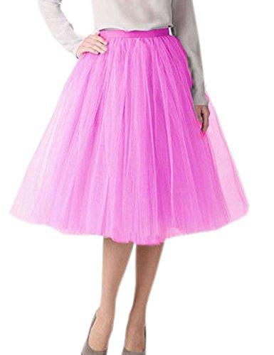Clearbridal Damen Tutu Rock Kleid Tüllrock Prinzessin Ballettrock 12021 Himmelblau Größe ()