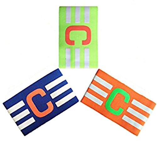 Adesugata fútbol Capitán brazalete, Fútbol brazalete elástico, Velcro para tamaño ajustable, apto para varios deportes como el fútbol y Rugby Etc (7 piezas)