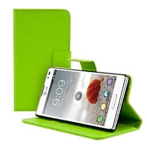 kwmobile Wallet Case Hülle für LG Optimus L9 - Cover Flip Tasche mit Kartenfach und Ständerfunktion in Grün