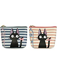 ALLYDREW Cats And Stripes Coin Purse Wallet Bag Key Holder (Set Of 2)