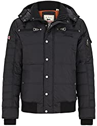 Lonsdale London chaqueta para hombre Upstreet, Black, S, 114722