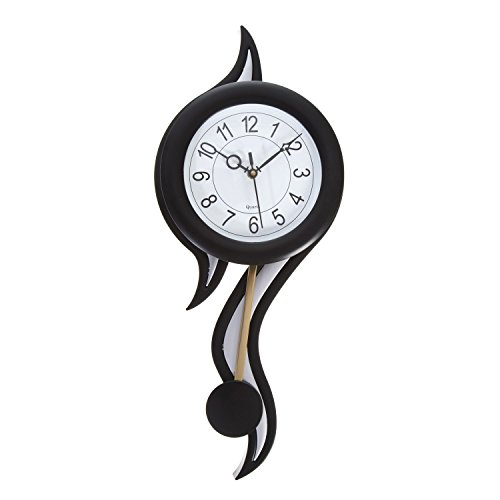 shoora arts wall clock black silver