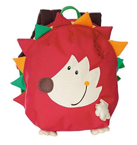 sigikid, Mädchen und Jungen, Mini Rucksack, Motiv Igel, Rot, 24619