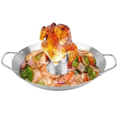 Asador vertical para pollo,antiadherente,rejilla para asador de pollo de acero inoxidable,soporte vertical...