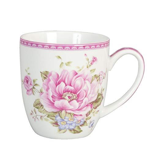 Edle Porzellan Kaffe Tasse Cup Rosa Rosen