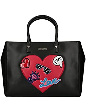 Love Moschino Patches shopping bag black