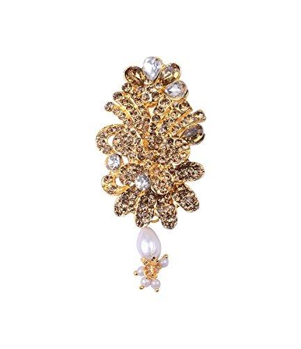 Fashion Vintage Rhinestone Alloy Crystal Flower Design Women Collar Brooch Pins /...