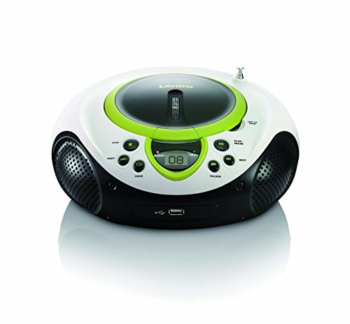 Lenco SCD-38 Tragbares UKW-Radio mit CD/MP3-Player (USB 2.0)grün