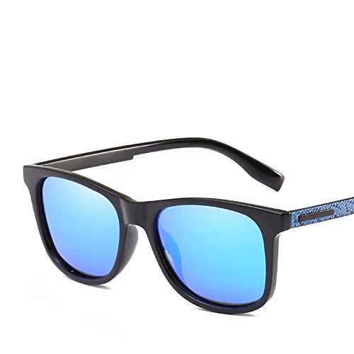 Chahua Männer und Frauen generic Sonnenbrille outdoor PKW-Fahrer aus der Sonnenbrille Objektiv der Outdoor Sport Männer Sonnenbrille, Blau