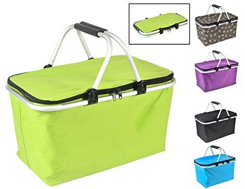 32L faltbar Picknick Korb, klappbarer Picknick Kühltasche SHOPPING Tasche für Outdoor Camping, Wandern