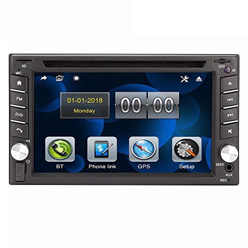 Eunavi Universal Auto DVD Radio Player Doppel 2 din Auto DVD GPS Navigation im Dash 2din Stereo Head Unit Video Touchscreen