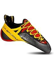 La Sportiva Genius - Pies de gato para hombre, color rojo / amarillo, talla 34.5