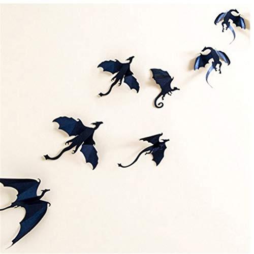 Mallalah 3D Etiqueta de La Pared Dragones Juego de Tronos Wallpaper Arte Pegatinas Artesanías Decorativas Fiesta de Decoración Infantil(7pcs)
