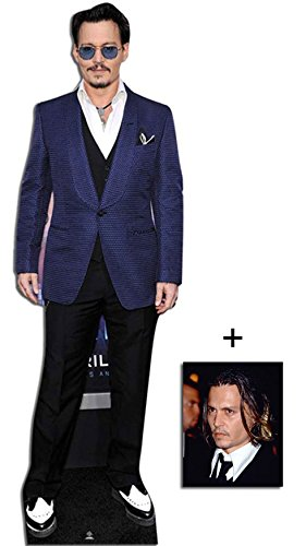 Johnny Depp Lebensgrosse Pappaufsteller mit 25cm x 20cm foto (Ausschnitte Pappe Promi)