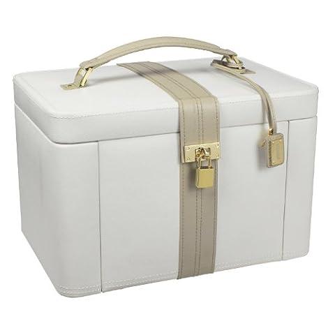 Dulwich Designs Collection Deux Tons Boîte à bijoux de luxe en cuir Crème