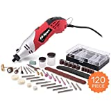 Hi-Spec 170W Multi Purpose Rotary Multi Tool, Sander, Cutting Tool & More with Variable Speed Switch & 120 Piece Mixed Accessory Kit. Compatible with DREMEL Tools and Accessories