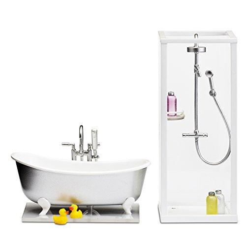 Lundby 60.2089.00 - Dusche und Bad, Minipuppen mit Zubehör
