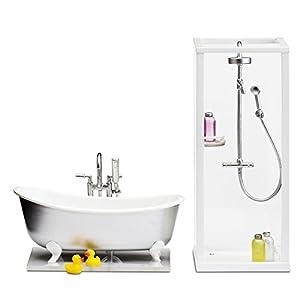 Lundby 60.2089.00 - Ducha y baño, Mini muñeca con Accesorios