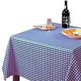 Tischdecke kariert blau 890 x 890 mm Wachstuchtischdecke Restaurant