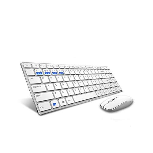 Kabellose Tastatur und Maus Set weiß weiß Size