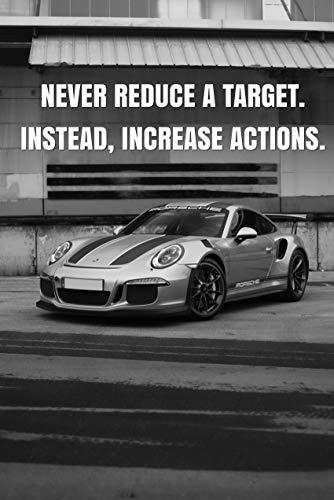 Porsche GT3 RS Motivation Poster – Wandbild XXL mit Spruch, Motivations Bild, Motivationsposter, Motivationsbild, motivierende Zitate & Sprüche, Leinwand Kunstdruck, Fotoleinwand, Büro, Bilderrahmen