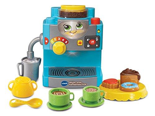 Vtech - Meine erste Kaffeemaschine, Kind Spielzeug Farben Formen Zahlen, 56x 36x 47 cm, Hellblau (Mein Barista Kaffeemaschine)