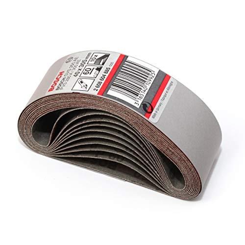 Bosch Schleifband, 40 mm x 305 mm, 60 g, 10 Stück Made in Germany 2608604885