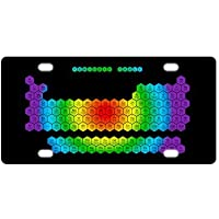 Classic tabla periódica de elementos Metal License Plate Frame (nuevo) 12