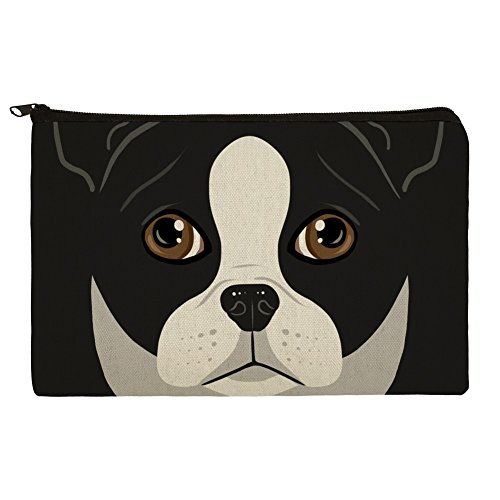 (Boston Terrier Look in my eyes Face Pet Hund Bleistift Pen Organizer Reißverschluss Pouch Fall)