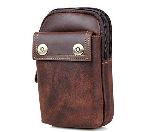 MeiliYH Herren Leder Taschen Retro Freizeit Erste Schicht aus Leder Taschen für Männer Dunkelbraun