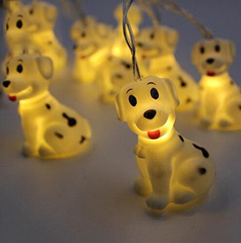 (4,9Füße Cartoon Tier Little Puppy Dog Fairy Lichterkette Laterne Lampe 10LED AA Batterie betrieben Dekorative Nachtlicht für Kinder Kindergarten DIY Party Urlaub Weihnachten Decor)