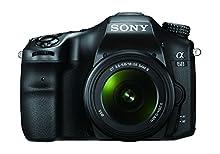 Sony Alpha 68K Kit Fotocamera Digitale Reflex con Obiettivo Intercambiabile SAL 18-55mm, Sensore APS-C, ILCA68 + SAL1855, Nero