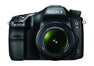 Sony Alpha 68 A-Mount Digitalkamera (24 Megapixel, 6,7 cm (2,7 Zoll) Display, 79-Phasen AF-Messfelder) inkl. SAL-1855 Objektiv schwarz