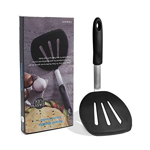 Küchenutensilien-Set Runde flexible Silikonwenderspatel der Chef-Serie - Der perfekte Pfannkuchen-Flipper, Egg Turner und Omelett-Spatel - 600ºF hitzebeständiger Gummispatel - breit, um große Speisen Flexible Omelett Turner