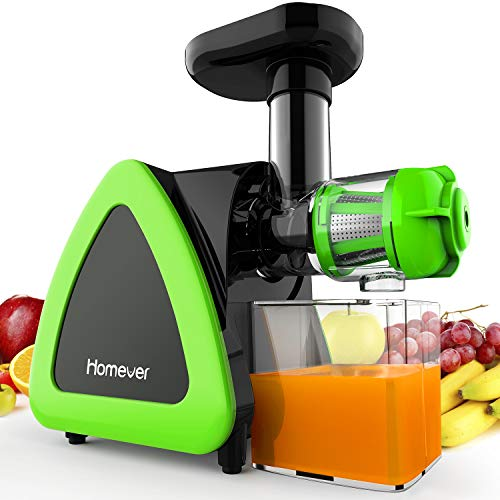 Estrattore di Succo a Freddo, Homever Professionale Estrattore Frutta Verdura 60 giri/min, Potente Motore a Induzione, 200W, Silenzioso