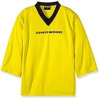 Sherwood Trainingstrikot Sher-Wood Practice Jersey - Camiseta de Hockey sobre Hielo para Hombre, Color Amarillo, Talla XS