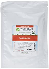 Waterfall Tea Company Organic Masala Chai Flavored Teas, 4 Ounce