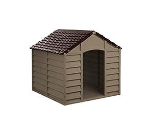 316924 Niche pour chien en forme de maison en résine grande taille